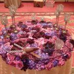 custom wedding reception table