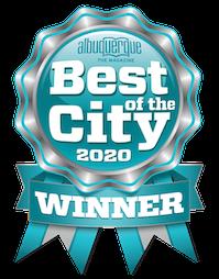 winner ribbon: best florist in Albuquerque 2020